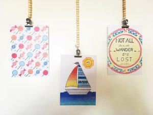 Duurzame kaarten, hangend