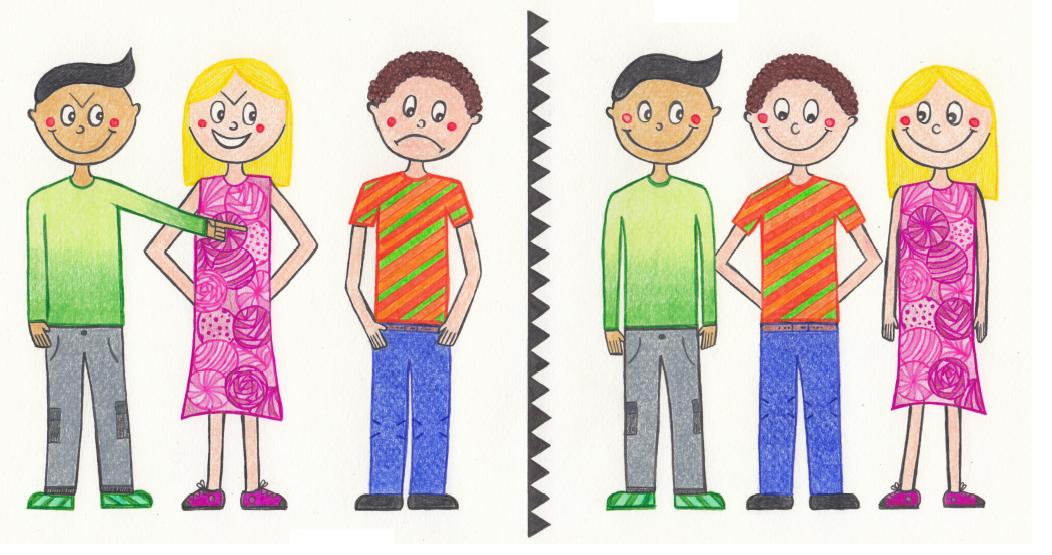 Children's illustration don't bully