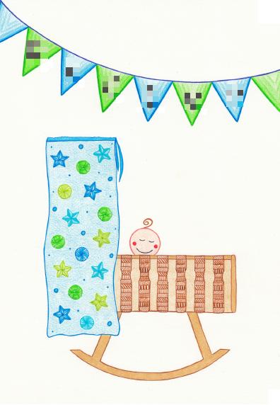 Custom made geboortekaartje jongen, opdracht, duurzaam papier